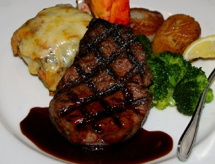 Filet mignon from the Pacific Grill restaurant in Tacoma Washington - image.
