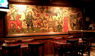 Bernard's mural of the middle ages - photo.