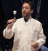 Dr. Givings (Jeff Cummings) invented an electrical machine to assuage this hysteria in women. - Photo by Chris Bennion