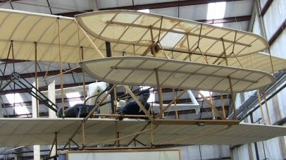 Wright Brothers replica plane.