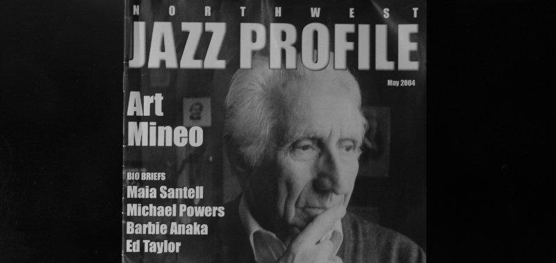 Art Mineo on the cover of Northwest Jazz Profile - Photo.