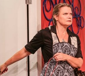 Berthe (Brynne Garman) in Boeing Boeing at Tacoma Little Theatre - Photo courtesy Dennis K Photography - image.