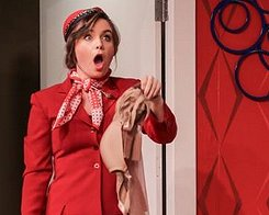 Gloria (Ana Bury) in Boeing Boeing at Tacoma Little Theatre - Photo courtesy Dennis K Photography - image.