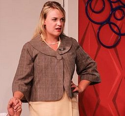 Gretchen (Jana Gueck) in Boeing Boeing at Tacoma Little Theatre - Photo courtesy Dennis K Photography - image.