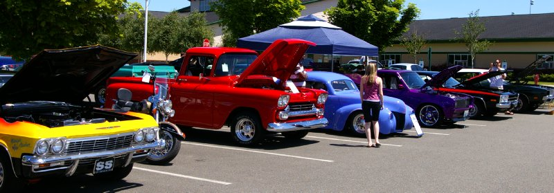 Walt's Family Car Show at Dacca Park in Fife.