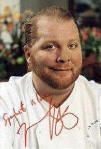 Italian chef Mario Batali - autographed photo.