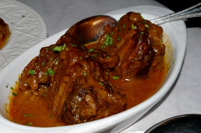Braised ox tails at Bilbao Spanish Restaurant & Tapas Bar Seattle Washington - photo.
