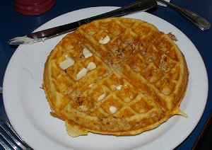 Peg's Pecan Waffle at Alfred's Cafe in Tacoma.