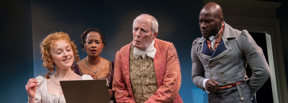 Sylvie Davidson, Dedra D. Woods, Brian Thompson, Sylvester Foday Kamara in Emma; photo by Adam Smith - Emma - Book=It Theatre - image.