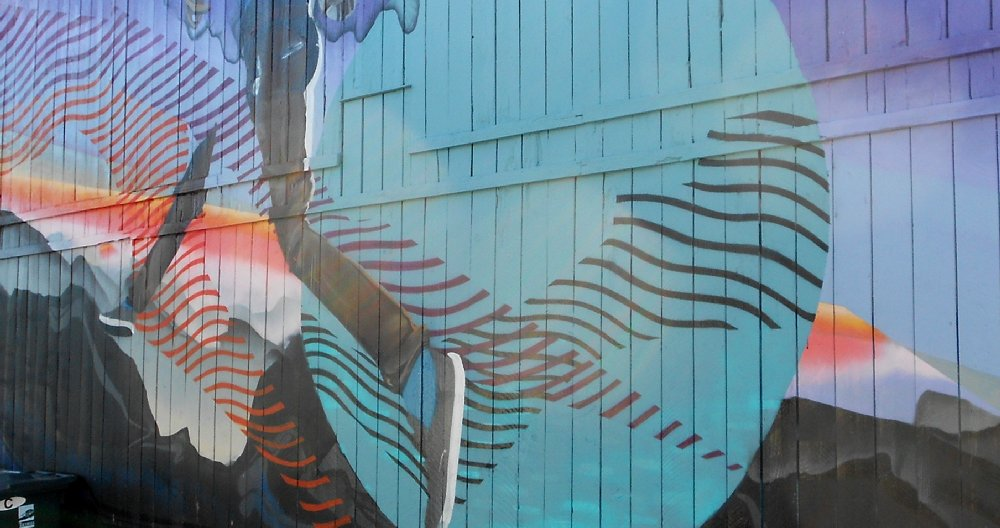 The alley mural just outside the Crown Bar on Sixth Avenue in Tacoma - image.