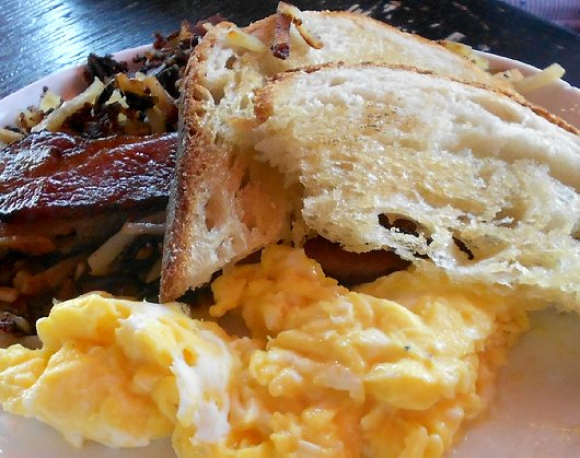 Bacon and scrambled eggs from Crown Bar on Sixth Avenue in Tacoma - image.