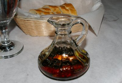 Olive oil and bread - photo.