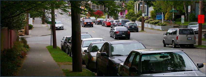 A neighborhood shot on Capitol Hill.