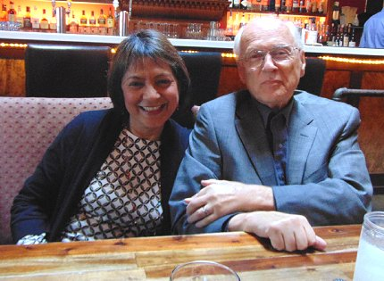 Jayasri Ghosh and Dennis Flannigan at The Manhattan restaurant on Capitol Hill in Seattle, Washington - image.