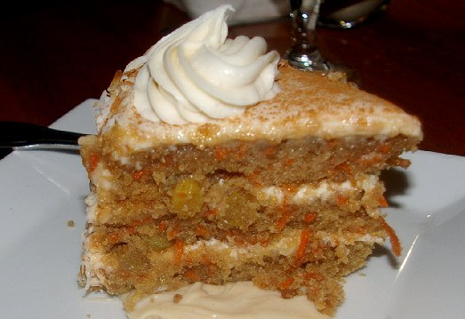 Carrot cake from Shenanigans Restaurant on Ruston Way in Tacoma - image.