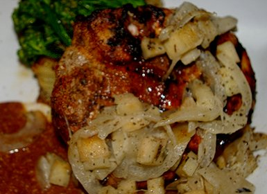 Pork Porterhouse - porkchop from Shenanigans Restaurant on Ruston Way in Tacoma - image.