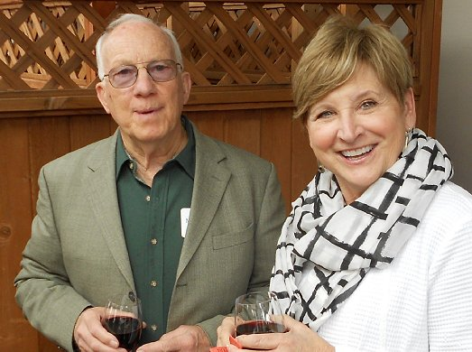 Mike Mowat and Helen McGovern-Pilant at the fundraising event for Catherine Place - image.