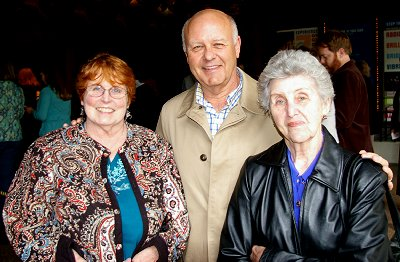 Peg Doman and Mike Dunbar and his mother attending Candide at the Fifth Avenue in Seattle.