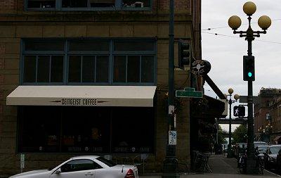 Zeitgeist Coffee in Seattle.
