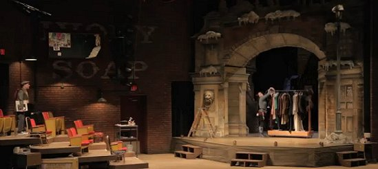 The Carey Wong set of Inspecting Carol at Seattle Rep. Photo by Chris Bennion.