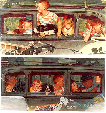 Going and Coming - Painting by Norman Rockwell.