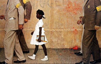 The Problem We All Live With - Painting by Normal Rockwell.