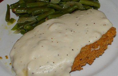 Chicken fried steak from the Kit Carson Family Restaurant in Chehalis, Washington.