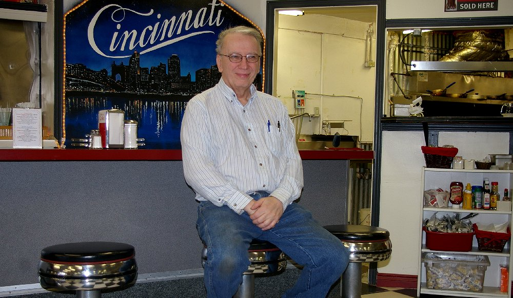 Wayne Wahlen at his Cincinnati Chili Parlor in Tacoma, Washington - image.