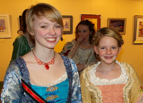 Young actresses at CenterStage in Federal Way.