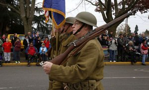 Doughboys marching in nearby Auburn, Washington.