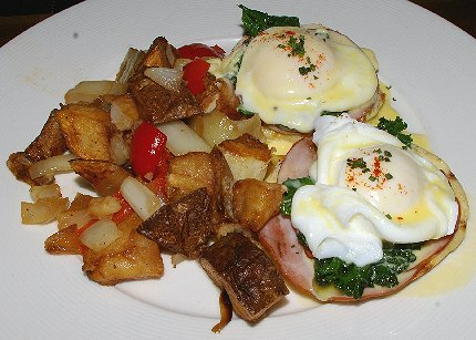 Eggs Benedict at the Manhattan Steakhouse in Seattle  - image.