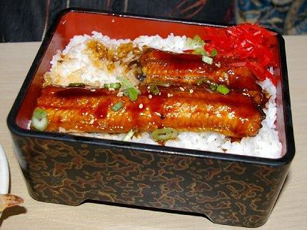 Rice bowl with eel at Shilla in Seattle - image.