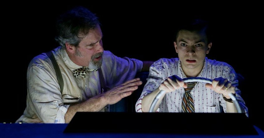 Jim Gall and Christopher Morson in The Dog of the South from Book-It Theatre - Photo by John Ulman.