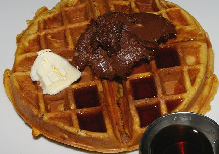 Sweet Potato Bacon Waffle at the Manhattan Steakhouse in Seattle  - image.