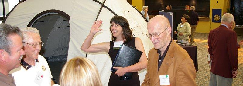 Gene Pankey, Jean Irwin, and Jim Harris in Tacoma, Washington.