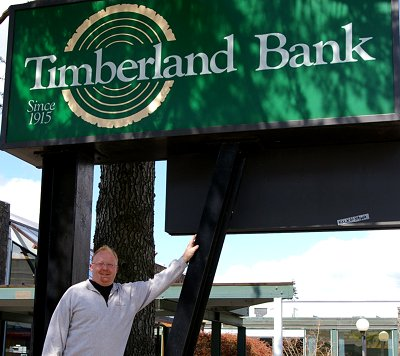 Dave Lewis and Timberland Bank in Hoquiam.