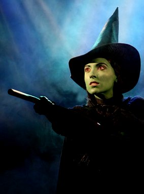 Donna Vivino as Elphaba in the Touring Production of Wicked in Seattle.