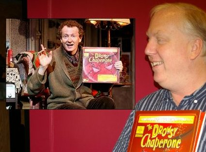 Jon Douglas Rake who directed and starred in The Drowsy Chaperone - insert is of author of the play - photo.