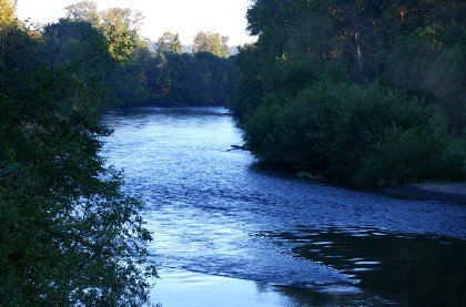 The Nisqually River near DuPont, Washington.