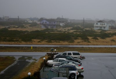 The view across the spit of land occupied by a few homes and Mariner Village - Ocean Shores Washington Adventure.