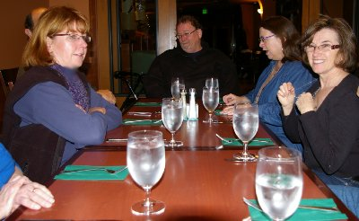 Our private dining room at the Quinault Resort and Casino - Ocean Shores Washington Adventure.