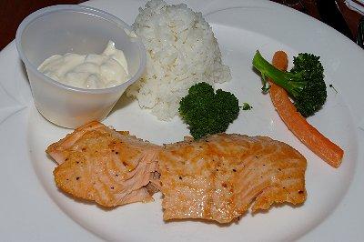 The $4.95 early-bird salmon dinner at Quinault - Ocean Shores Washington Adventure.