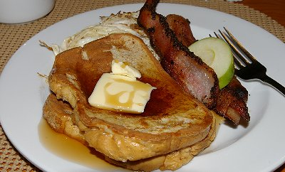 Our morning French Toast - Ocean Shores Washington Adventure.