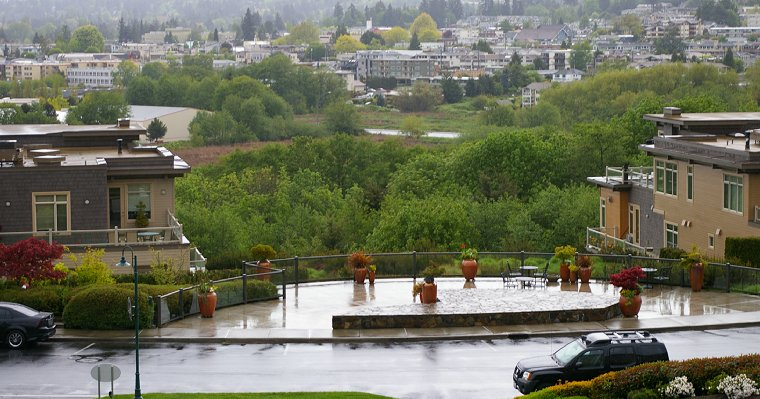 Viewpoint overlooking downtown Edmonds, Washington - image.