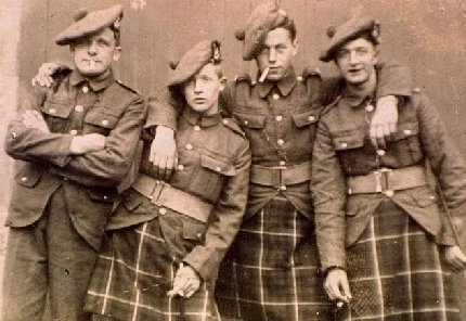 Seaforth Highlanders from World War I.