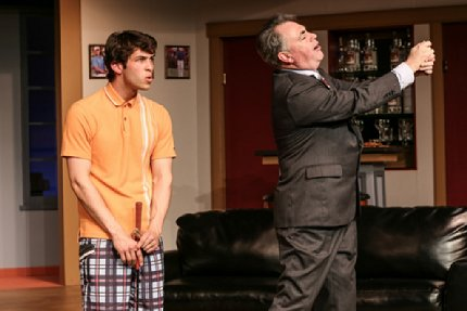 Rodman Bolek as Justin and Andrew Fry as Henry in The Fox on the Fairway at Tacoma Little Theatre - image.
