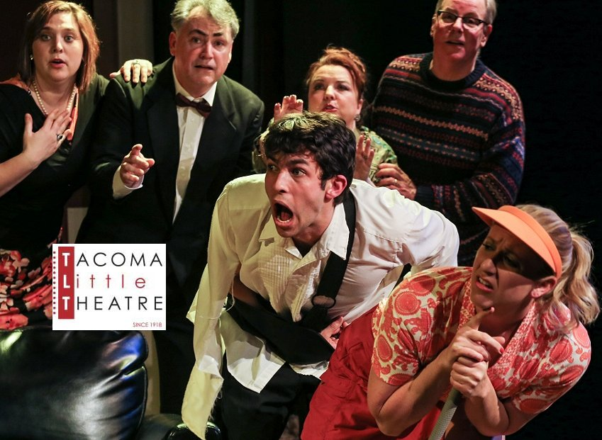 The cast of The Fox on the Fairway Tacoma Little Theatre - image.