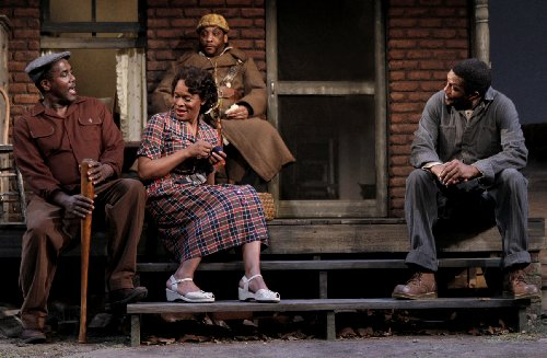 (L-R) James A. Williams, Kim Staunton, Craig Alan Edwards, and William Hall Jr. in Fences. Photo by Chris Bennion.