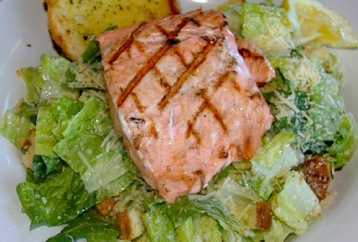 Salmon salad for lunch at the Green Lantern Pub in Copalis Washington - image.