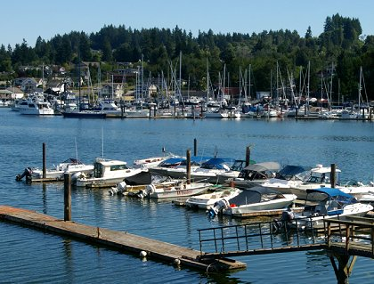 View from the MarketPlace Grille in Gig Harbor, Washington - image.